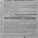 XV Certamen de Poesia Catalana F.Martí Queixalós